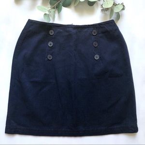 Vintage jean skirt with nautical front buttons
